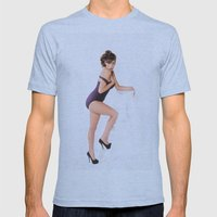 Pin-Up Girl Mens Fitted Tee Athletic Blue SMALL