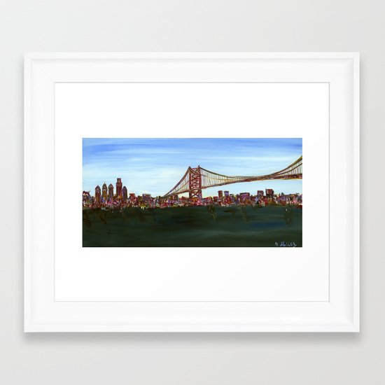 Ben Franklin Bridge Framed Art Print
