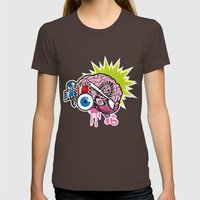 BRAIN-D! Womens Fitted Tee Brown SMALL
