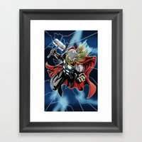 Almighty Thor  Framed Art Print