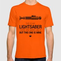 This Is My Lightsaber (L… Mens Fitted Tee Orange SMALL
