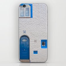 Blue door in Sitges iPhone & iPod Skin