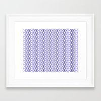 Karthuizer Blue & White Pattern Framed Art Print