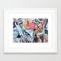 magazines Framed Art Print