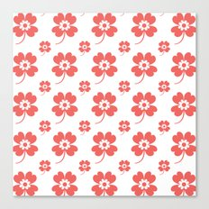 lucky flower coral Canvas Print