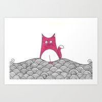 Tabs Cat Art Print