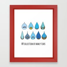 My Collection of Manly Tears Framed Art Print
