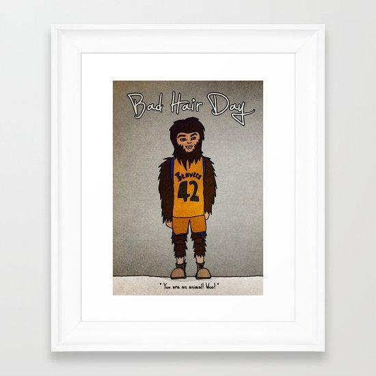bad hair day no:2 / Teen Wolf Framed Art Print
