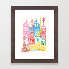 Oxford Towers  Framed Art Print