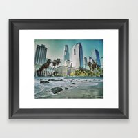 Surf City L.A. Framed Art Print