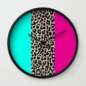 Leopard National Flag Wall Clock