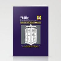 Tardis Service and Repair Manual Stationery Cards