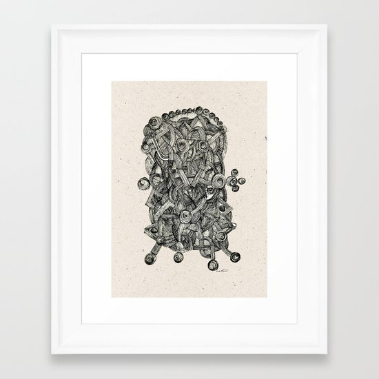 - dark energy - Framed Art Print