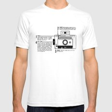 Polaroid Land Camera  SMALL White Mens Fitted Tee