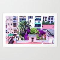 Barcelona Yard Art Print