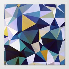 Colorful Abstract Triangles Pattern Canvas Print