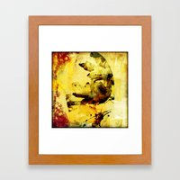 Burned Colors Framed Art Print