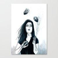 Juggling Hearts Canvas Print