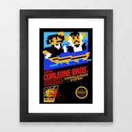 Super Corleone Bros Framed Art Print
