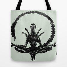 Meditation Alien Tote Bag