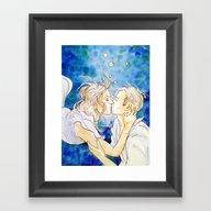 Underwater Kiss Framed Art Print