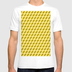 staircase pattern  SMALL Mens Fitted Tee White