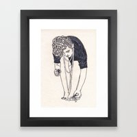 Behind the Scene with Pearls and Pomp Framed Art Print