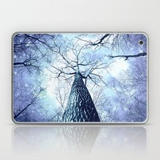 Wintry Trees Periwinkle Ice Blue Space Laptop & iPad Skin