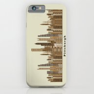 iPhone & iPod Case featuring Pittsburgh Skyline Vinta… by Bri.buckley