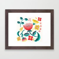 Floral Framed Art Print
