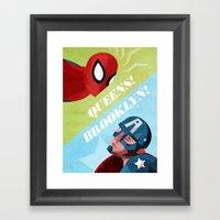 QUEENS! BROOKLYN! Framed Art Print
