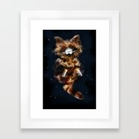 Rockets Raccoon Framed Art Print