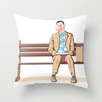 Bubble Gump Throw Pillow