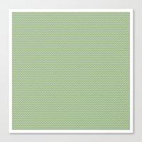 U14: algae chevron Canvas Print