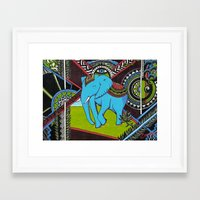 Elephant's sense Framed Art Print