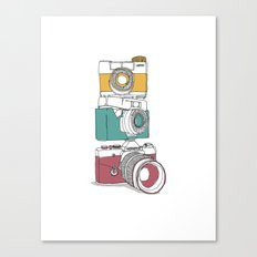 Stacked Cameras Canvas Print