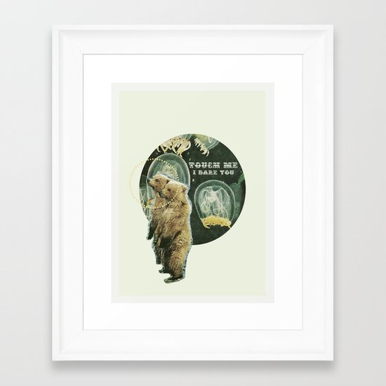 touch me (i dare you) Framed Art Print