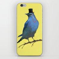 A Dapper Bluebird iPhone & iPod Skin