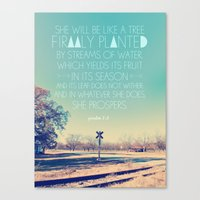 Girl version: Psalm 1: 3 Canvas Print