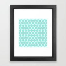 Honeycomb Tiffany Blue Framed Art Print