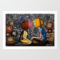 Fixed With Cable Televis… Art Print