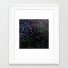 Southern Constellations (Green) Framed Art Print
