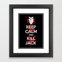 Keep Calm and Kill Jack Framed Art Print