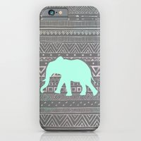 iPhone Cases featuring Mint Elephant  by Sunkissed Laughter