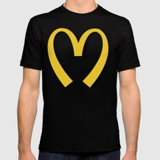 McDonald's MOSCHINO Mens Fitted Tee SMALL Black