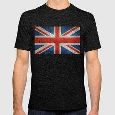 UK British Union Jack Fl… Mens Fitted Tee Tri-Black SMALL