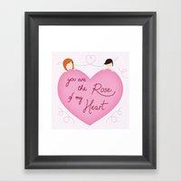Rose Of My Heart Framed Art Print