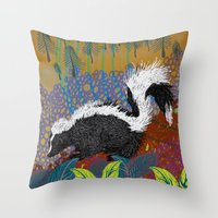 dawn and dusk Throw Pillow