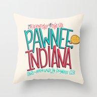 Pawnee, Indiana Throw Pillow