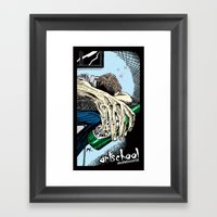 Artist Hard At Work Framed Art Print